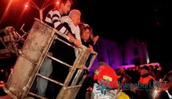 Batum'da Otel Yangını