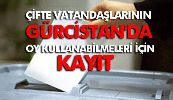 Türkiye'de Yaşayan Çifte Vatandaşlarının Gürcistan Seçimlerinde Oy Kullanabilmeleri İçin Kayıt