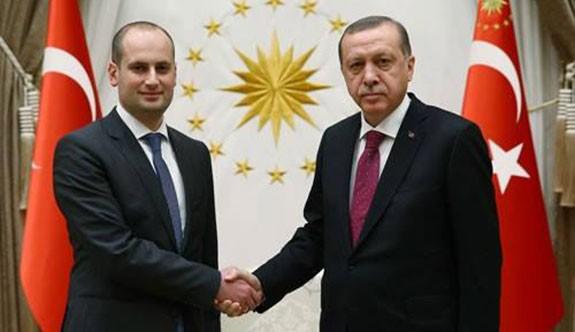 Cumhurbaşkanı Erdoğan, Gürcistan Dışişleri Bakanı Canelidze'yi Kabul Etti