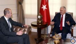 Başbakan Yıldırım, Gürcistan Dışişleri Bakanı Canelidze'yi Kabul Etti