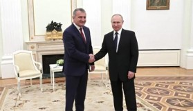 Vladimir Putin Moskova'da Tskhinvali Lideriyle Buluştu