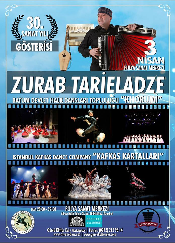 30. Sanat Yılı Gösterisi Zurab Tarieladze (Kafkas-Gürcü Dans Gösterisi)