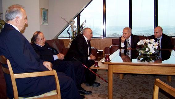 Türk-Gürcü Vakfı'ndaki Görüşme (Sami Seçkin, Simon Zazadze-İsmet Acar-İulon Gagoşidze, Paata Sarişvili)