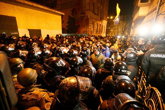 Tekrar Gözaltına Alınan Saakaşvili İçin Ukrayna'da Gösteri Düzenlendi